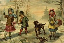 Children's Games. A Winter Walk.
