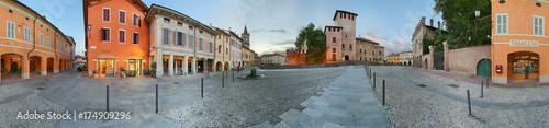 Fotografie, Obraz  Fontanellato, piazza e rocca Sanvitale a 360°