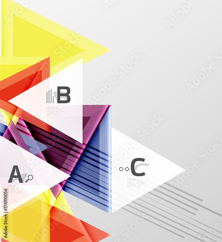 Poster Geometrische dieren Triangles and geometric shapes abstract background