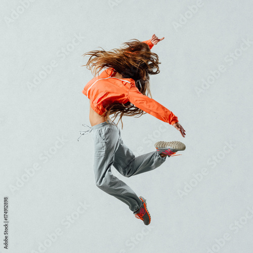 plakat Modern style dancer jumping