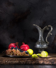 Still Life With Fruits And Win...