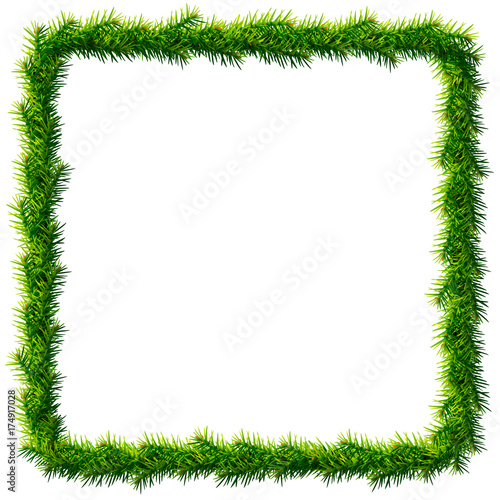 Thin Christmas Square Wreath Without Decoration Rectangle Frame Of