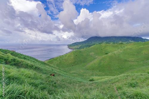 Keuken foto achterwand Olijf View from Vayang Rolling Hills, Ivatan Island, Batanes