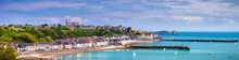 Panoramic View Of Cancale, Located On The Coast Of The Atlantic Ocean On The Baie Du Mont Saint Michel, In The Brittany Region Of Western France