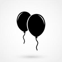 Balloons Icon Vector.