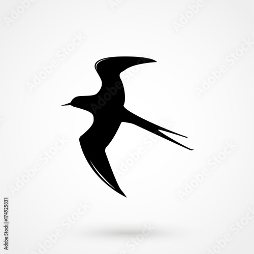 swallow silhouette - vector illustration Canvas-taulu