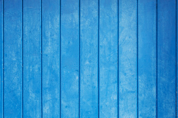 Blue plank wood wall background (texture)
