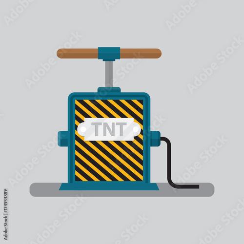 Papel de parede  Detonator for tnt vector illustration.