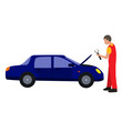 car service flat icon