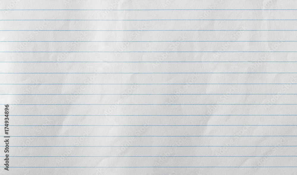 Fototapeta Notebook Lined Paper Background Or Texture