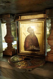 Fototapeta Do akwarium - Golgotha in the Jerusalem Church of the Holy Sepulcher.