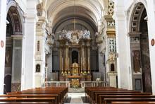 The Interior Of The Church Tri...