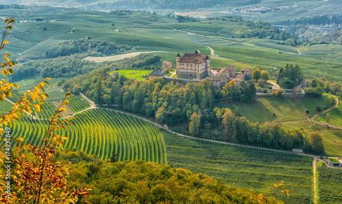 Fotografie, Obraz  autumnal landscape of Castel Thun, located in the commune of Ton in the lower Va