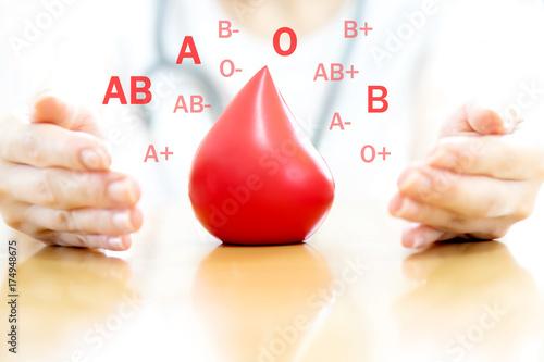 Fotografie, Obraz  Doctor hands holding a red blood