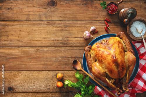 Carta da parati Christmas or Thanksgiving turkey