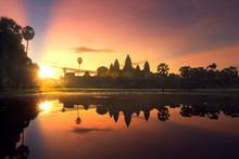 Sunrise Of Angkor Wat Temple
