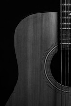 Acoustic Guitar In Black And W...