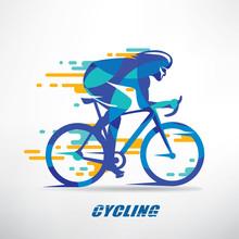 Cycling Race Stylized Backgrou...