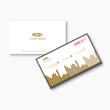 Business Card Music Equalizer