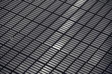 Anti Slip Textured Pattern On Stainless Steel Base Of Escalator