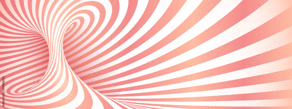Pink geometric twisted stripes abstract background