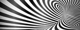 Fototapeta Do przedpokoju - Black and white twisted lines horizontal background