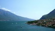 Beautiful view to the Limone Sul Garda and Lago di Garda lake, Italy