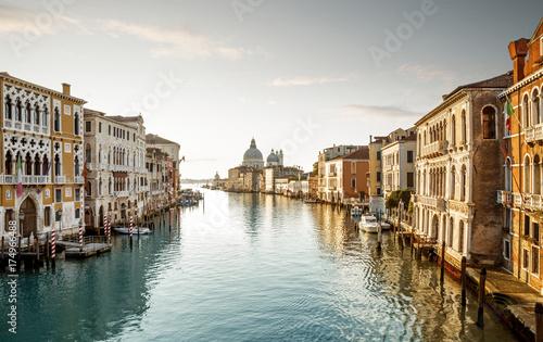 Plakat Panorama kanał grande w Wenecja, Włochy