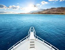 Motor Yacht In A Bay