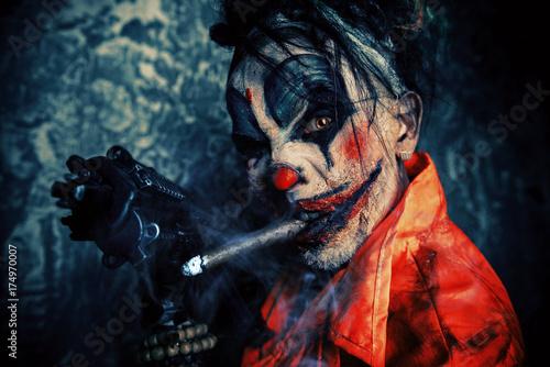 Photo  dirty zombie clown