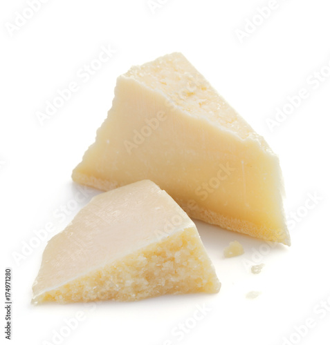 Fotografie, Obraz  piece of cheese on white background