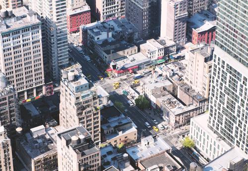 Obraz na dibondzie (fotoboard) Wieżowce z Nowego Jorku z góry