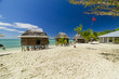 samoan fale bungalow at the beach in samoa savaii lano beach