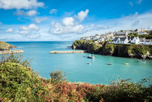 Old Fishing Village / Port Isaac, The Little Village On The Sea In Cornwall