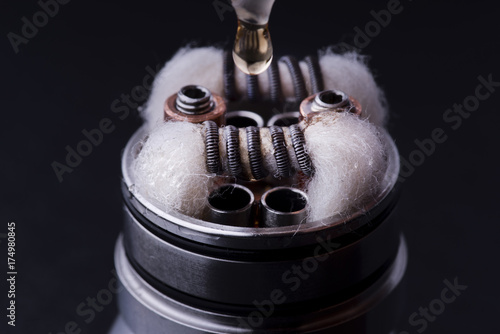 preparation of the atomizer for the electronic cigarette Canvas Print
