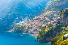 Morning View Of Positano Citys...