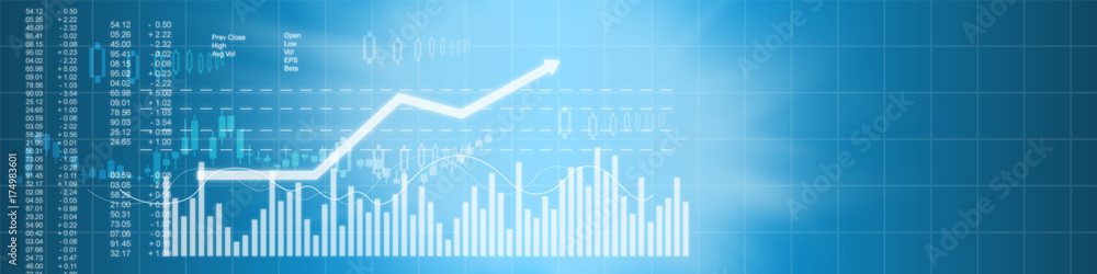 Fototapeta Business stock market background