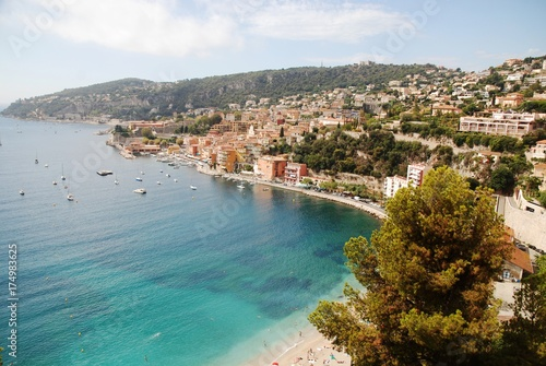 Garden Poster Nice Panoramique sur Villefranche-sur-Mer (Alpes-Maritimes)