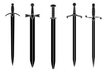 Swords. Collection Of Black Icons