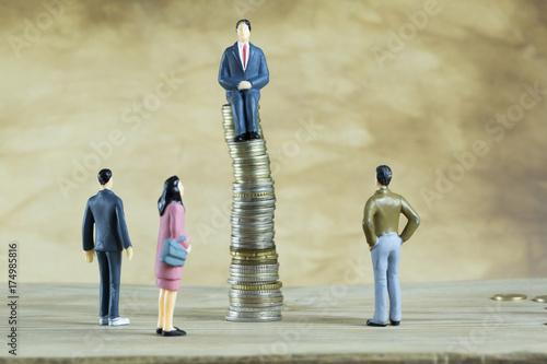 Photo Businessmen Hope, Success, Goal Concept