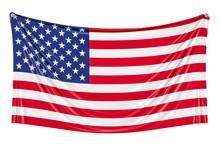 USA Flag Hanging On The Wall, ...