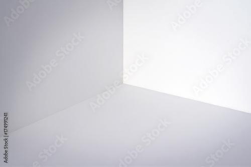 obraz dibond Empty white corner