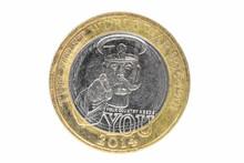 Closeup Of British 2 Pounds Coin