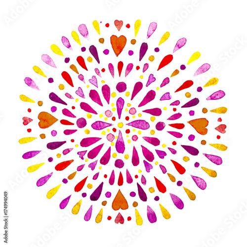 mata magnetyczna mandala fiore acquerello
