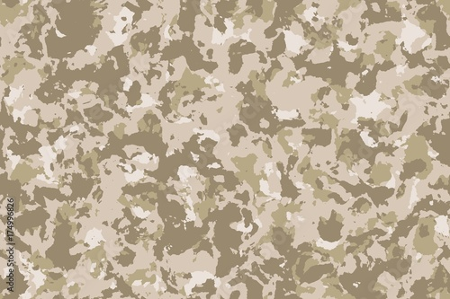 Cuadros en Lienzo  Seamless desert camouflage background or texture.