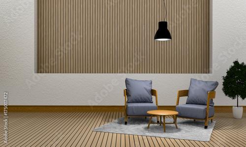 Fototapeta 3D rendering wewnętrzny nowożytny żywy pokój