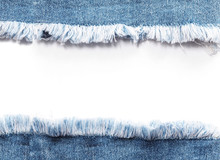 Edge Frame Of Blue Denim Jeans...