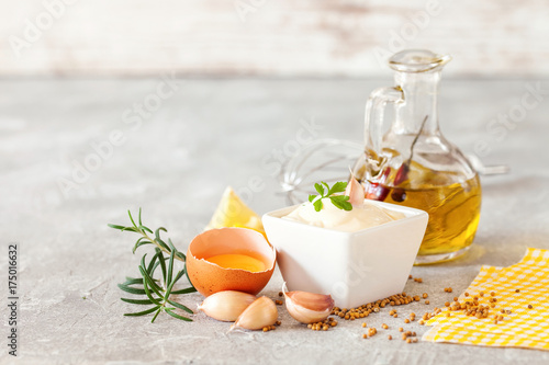 Garlic sauce Aioli Canvas Print