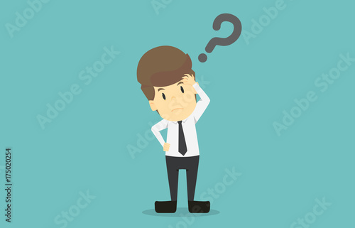 Businessman Is Thinking Under Stress Cartoon Of Business Success Is The Concept Of The Man Characters Business The Mood Of People Can Be Used As A Background Infographics Vector Illustration Buy This
