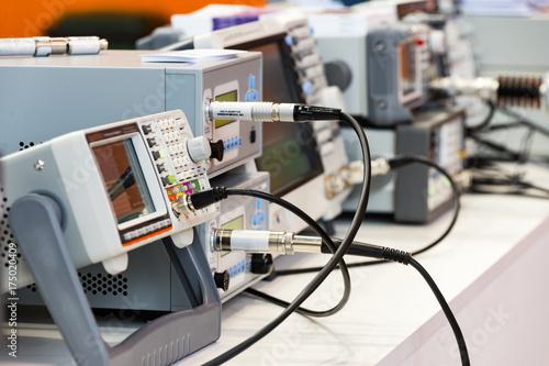 Fotografía  Modern digital measuring instruments. Multimetric equipment.